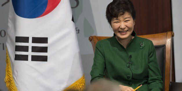 South Korean President Park Geun-hye answers questions at the Center for Strategic and International...