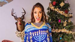 못생긴 '크리스마스 스웨터' 입은 포르노