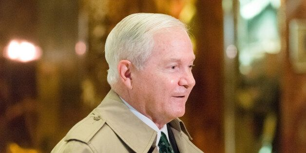 TRUMP TOWER, NEW YORK, NY, UNITED STATES - 2016/12/02: Former Secretary of Defense Robert Gates is seen...