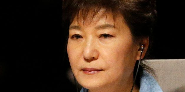 South Korea's President Park Geun-hye attends the opening session of the Nuclear Security Summit (NSS)...