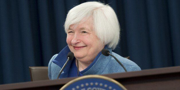 Federal Reserve Chair Janet Yellen speaks during a press conference following the announcement that the...