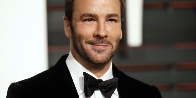 Designer Tom Ford arrives at the 2015 Vanity Fair Oscar Party in Beverly Hills, California February 22,...