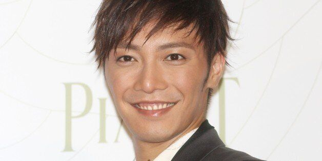 TOKYO, JAPAN - APRIL 19: Actor Hiroki Narimiya attends the Piaget Rose Press conference on April 19,...