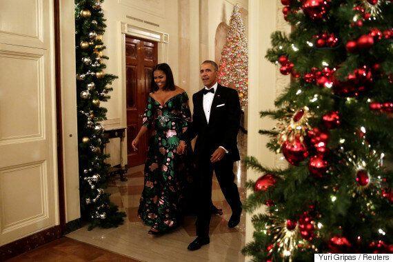 미셸 오바마가 파티 드레스의 정석을