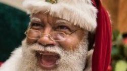 흑인 산타의 등장에 소셜미디어 논쟁이