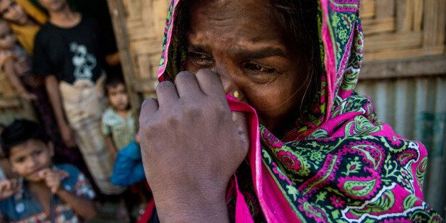 Jahra khatun (45) reached at Rahingya camp of Leda few minutes back, Claimed her Son was killed by military...