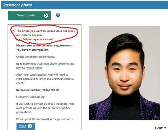 뉴질랜드의 온라인 여권 갱신 시스템이 이 사진을 거부한 이유는