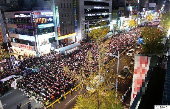 부산에 서면 쥬디스태화 앞에 20만 명이