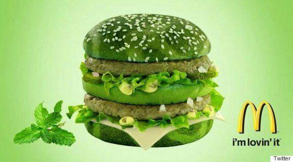 미국 혹은 일본 맥도날드에서 판매한다는 '민트맛 빅맥 버거'의