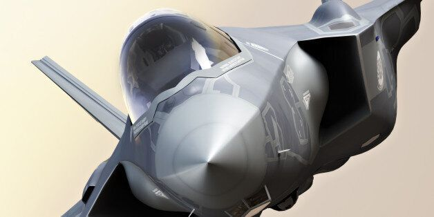 F35 Fighter jet close up, photo realistic 3d