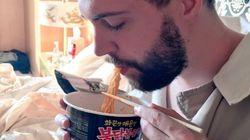 중국에서도 불닭볶음면을 먹는 지독한