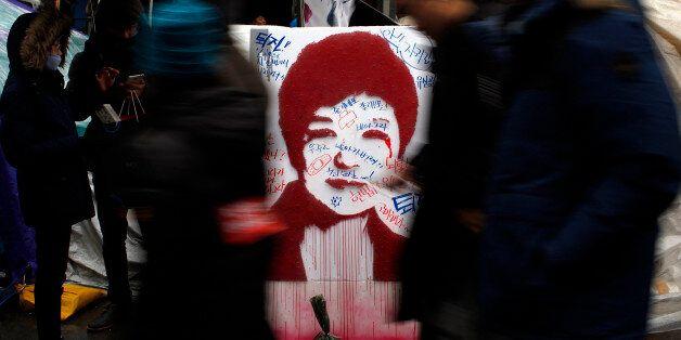 SEOUL, SOUTH KOREA - NOVEMBER 26: People gathered for a rally against South Korean President Park Geun-hye...