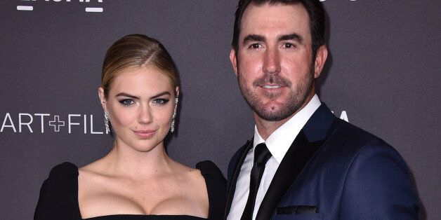 Kate Upton, left, and Justin Verlander arrive at the 2016 LACMA Art + Film Gala on Saturday, Oct. 29,...