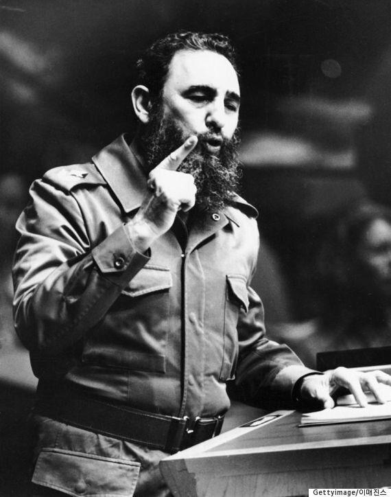 쿠바 공산혁명 지도자 피델 카스트로가