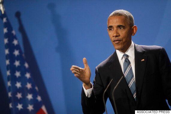 오바마가 메르켈과의 기자회견 뒤 질의응답에서 '민주주의 특강'을 했다
