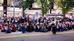 촛불집회를 앞둔 광주경찰이 시민들에게 당부한