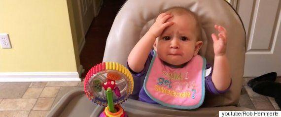 생애 처음 요거트를 먹어본 이 아이는 곧 충격에