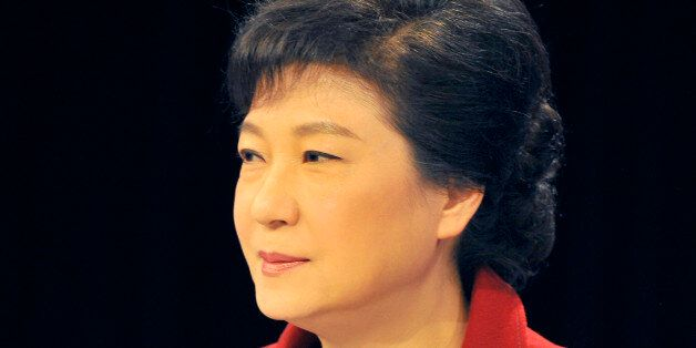 South Korea's presidential candidate Park Geun-hye of the ruling Saenuri Party takes part in a televised...