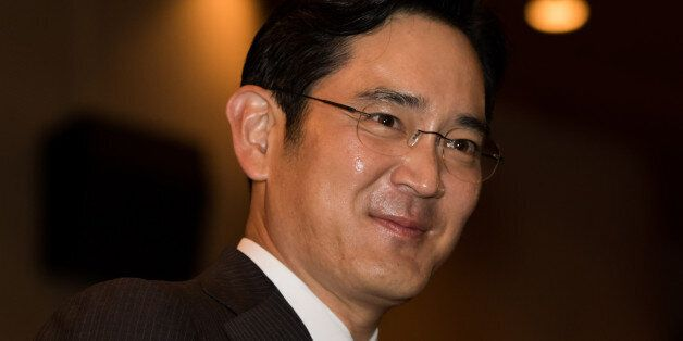 Billionaire Lee Jae Yong, vice chairman of Samsung Electronics Co., attends the Samsung Foundation's...
