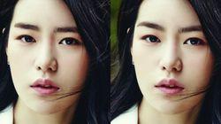 한국 여자 연예인들의 일자 눈썹이 산 모양으로 바뀐다면?