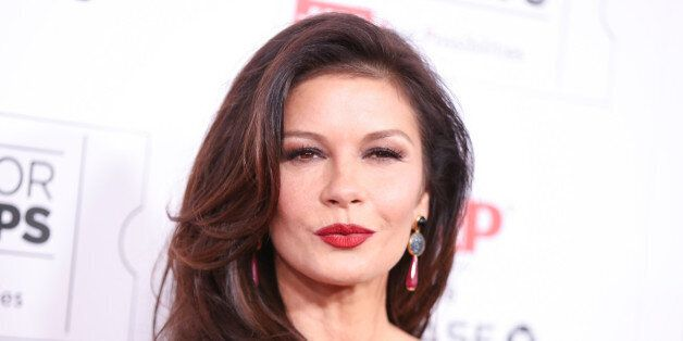 Catherine Zeta-Jones arrives at the 15th Annual Movies for Grownups Awards at the Beverly Wilshire Hotel...