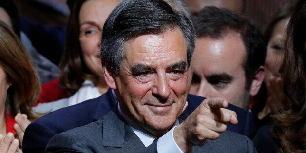 Francois Fillon, former French prime minister and member of Les Republicains political party, attends...