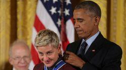 자유의 메달 수상자 엘렌 드제너러스가 백악관에 들어가지 못할 뻔한