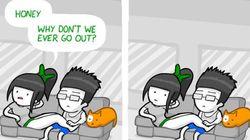 오래 사귄 커플의 생활을 묘사한 만화