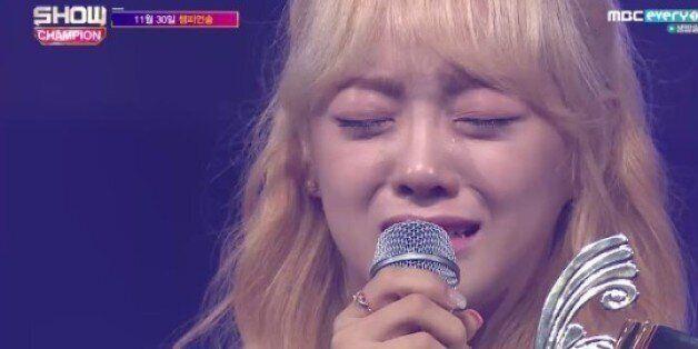 '쇼챔피언' 김세정, 눈물의 1위..B1A4