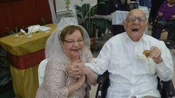 80세 할머니가 생애 첫 결혼식을