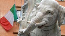 로마 미네르바 광장의 코끼리상이