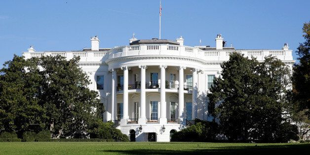 The White House is awash with early morning sun on the morning of the U.S. Presidential election in Washington...