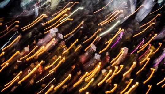 11월 12일, 사상 최대의 촛불집회에서 촬영한 49장의