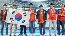 한국 선수들이 오버워치 월드컵을