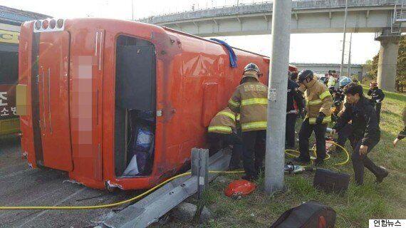 관광버스 사고 유발 의혹을 받는 운전자가