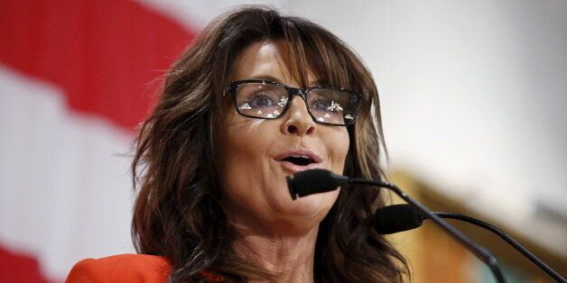 Former Alaska Governor Sarah Palin speaks during Milwaukee County GOP's 'Wisconsin Decides 2016' presidential...