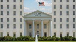 트럼프의 당선을 축하하며, 백악관을 두고 '포토샵 전쟁'이