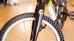 펑크 날 일이 없는 자전거 타이어가