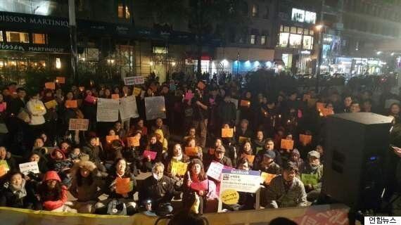 해외 10여개국 30여개 도시에서도 '촛불집회'가