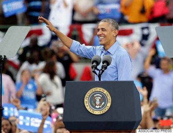 버락 오바마가 트위터 계정을 빼앗긴 도널드 트럼프를