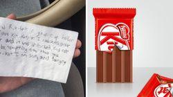 차에서 초콜릿을 도둑맞은 학생이 엄청난 선물을