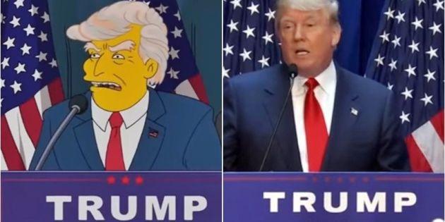 '심슨 가족' 한 장면, 도널드 트럼프