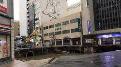 '후쿠오카 싱크홀'에 대한 후쿠오카 시장의 반응이 칭찬받는