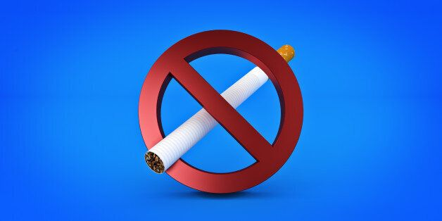 No Smoking Sign isolated. 3d