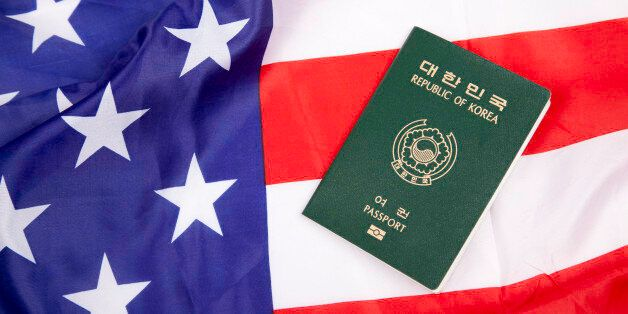 South Korean passport with American