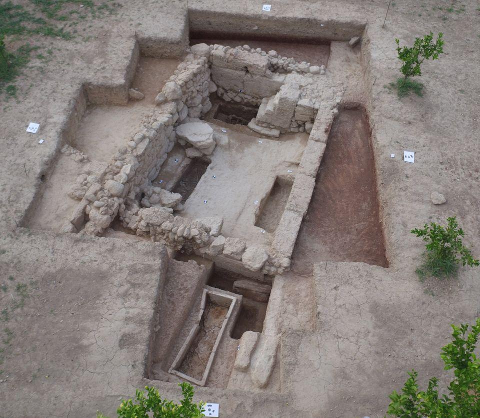 Αεροφωτογραφία του Ηρώου από ΝΑ (κλασική