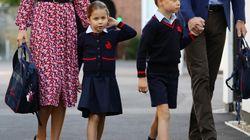 Charlotte al primo giorno di scuola è tenerissima (ma i riflettori sono per la