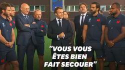 Le discours de Macron face au XV de France avant la Coupe du