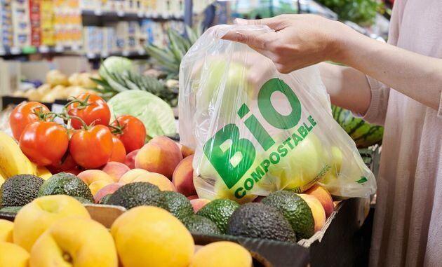 Bolsa de plástico biocompostable de