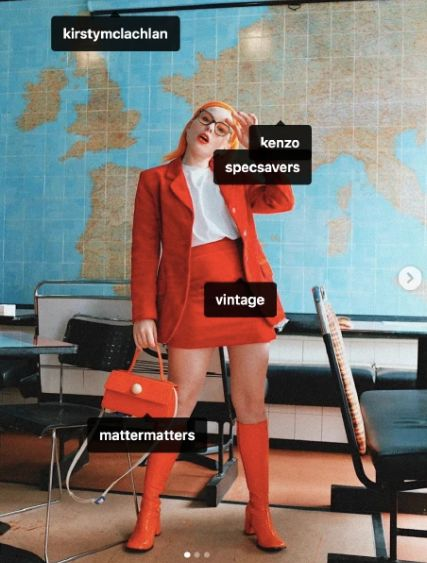 An influencer reprimands others for neglecting the Amazon fires in a post in which she promotes several fashion brands.